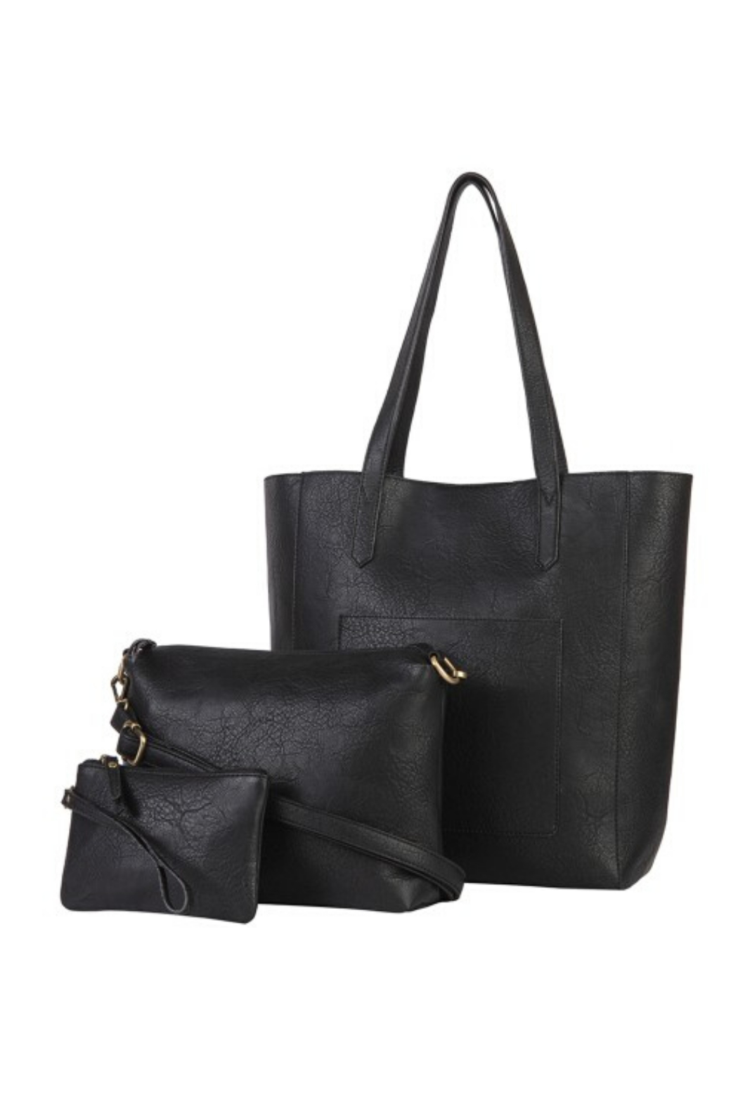 Mona B Mallory 3 Pc Vegan Leather Tote - Front Cropped Image