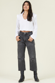 LaMade  Mallory Ruffled Top - Front cropped