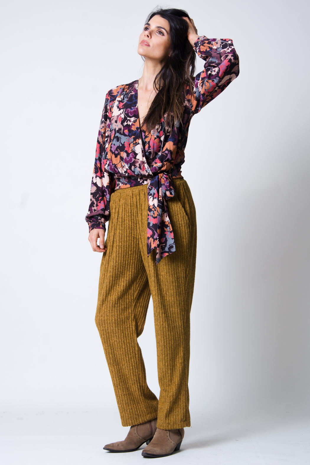 wanderlux  Malo Wrap Top - Side Cropped Image