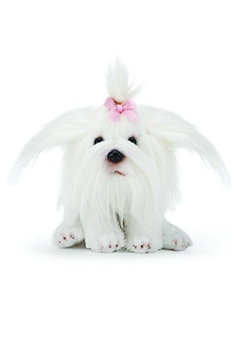 DEMDACO Maltese Plush Toy - Alternate List Image