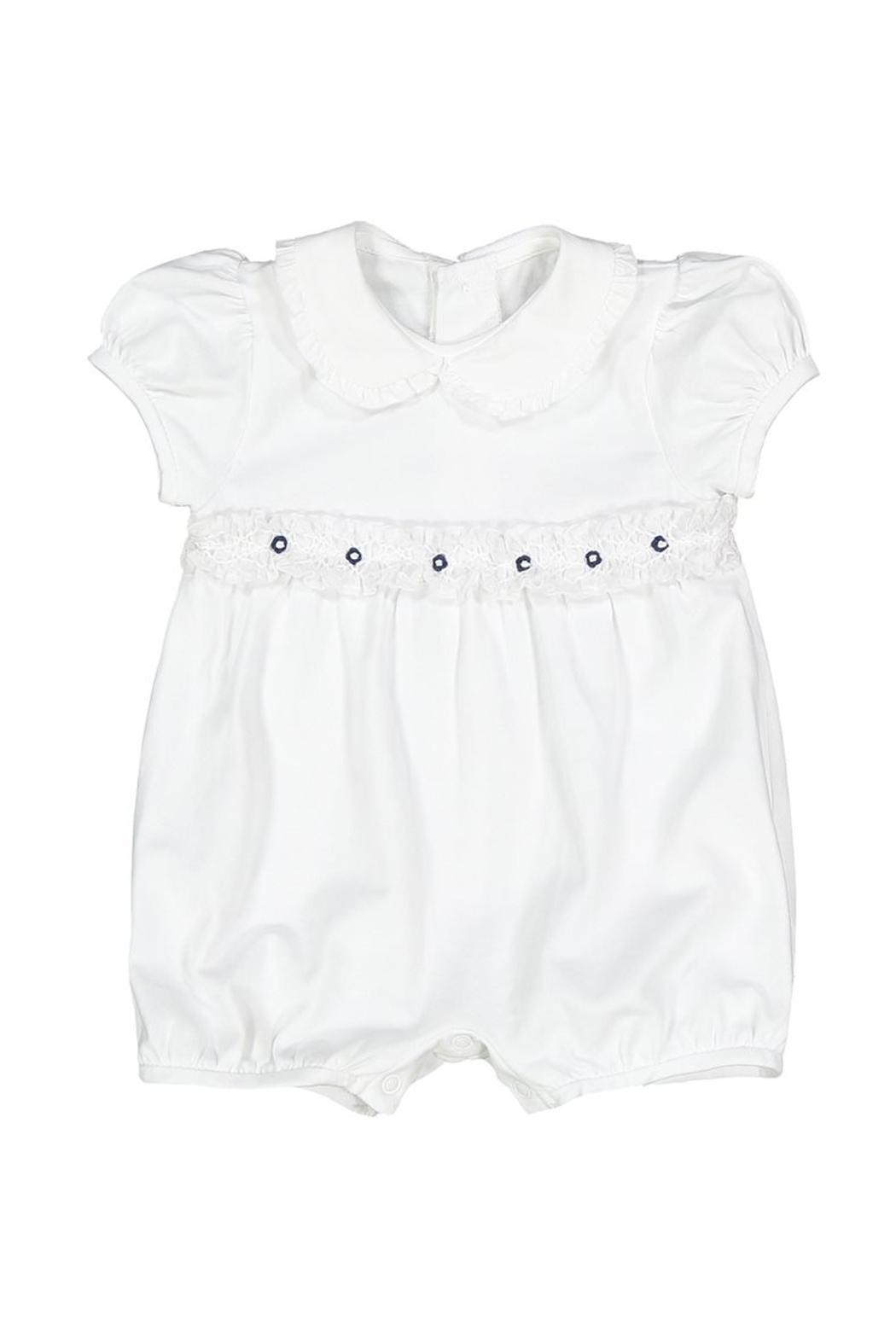 Malvi & Co. White Smocked Romper - Main Image