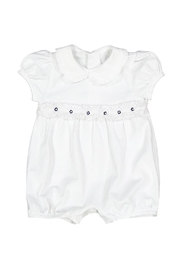 Malvi & Co. White Smocked Romper - Front cropped