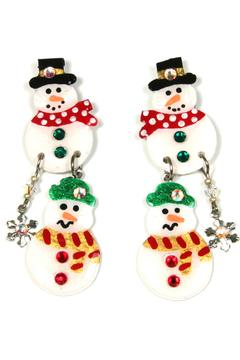 MAM' Christmas Earrings Snow-Family - Alternate List Image