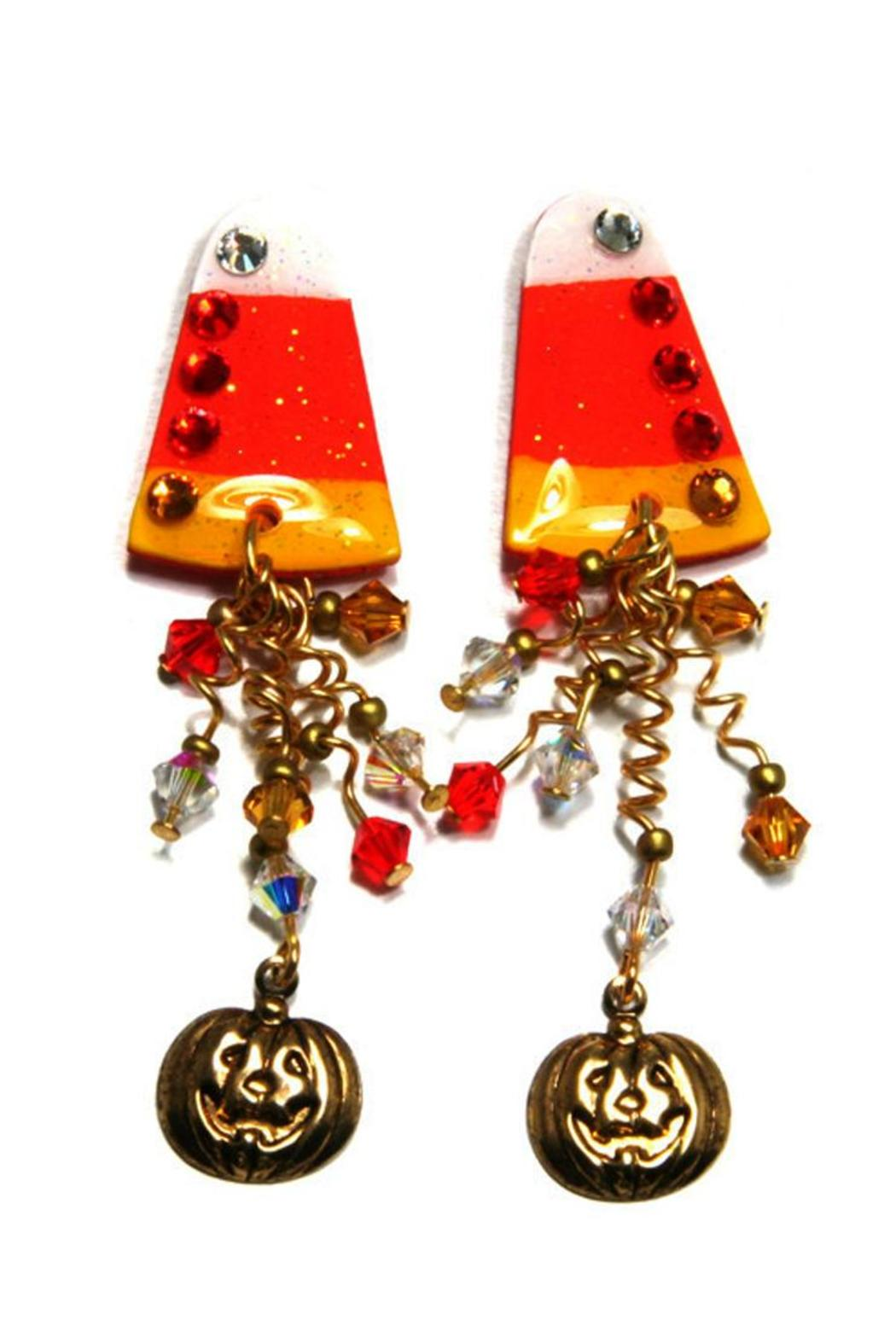 Mam' Candy Corn Earrings  Front Cropped Image