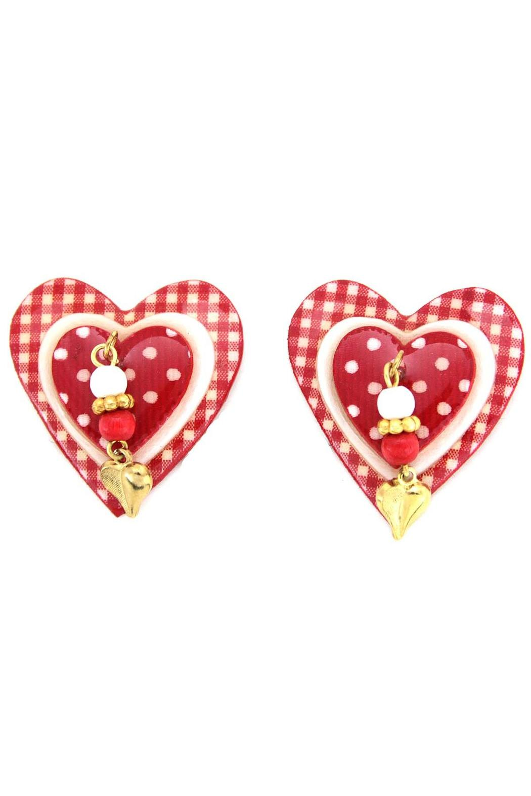Mam Heart Clip Earrings Front Cropped Image