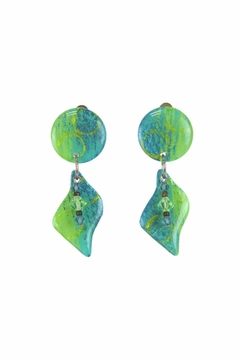 Shoptiques Product: Green Statement Earrings