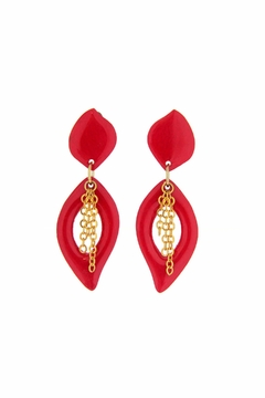 Shoptiques Product: Red Clip-Earrings