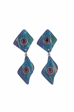 Shoptiques Product: Abstract Clip Earrings