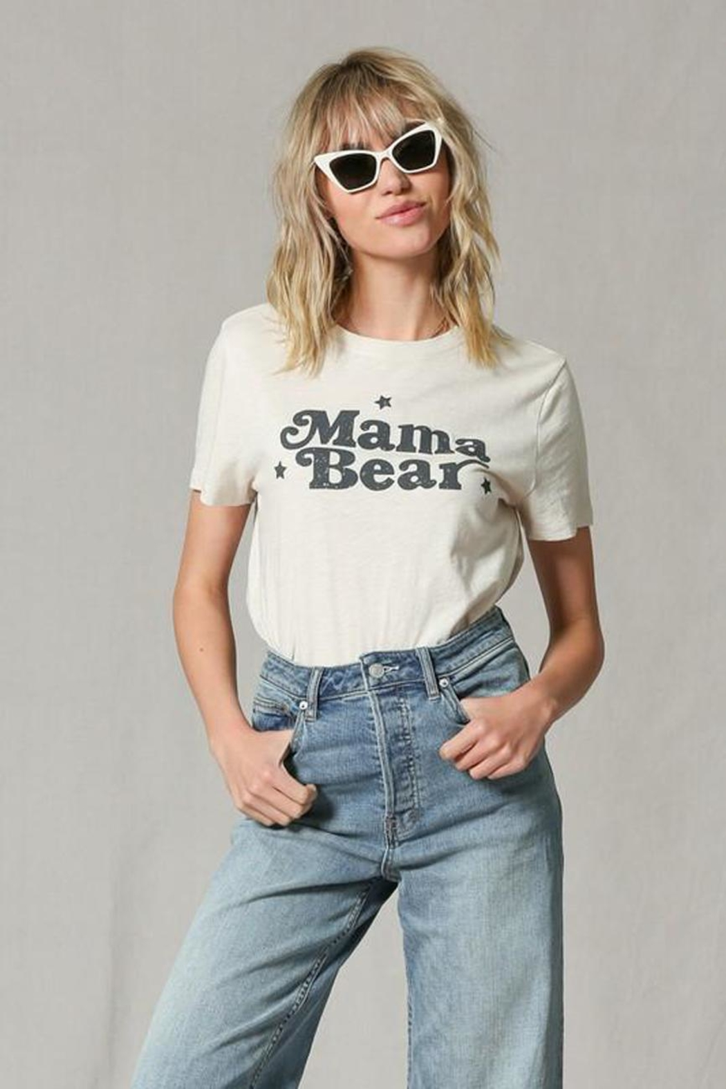 Blank Paige Mama Bear T-Shirt - Front Cropped Image