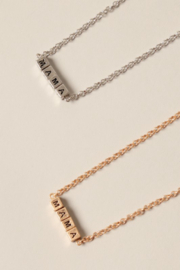 Fashion City MAMA Block Pendant Necklace - Front cropped