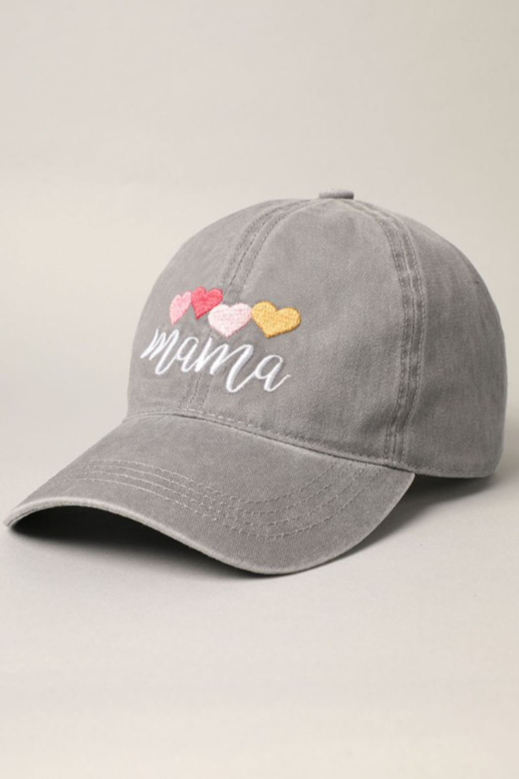 Fashion City MAMA Embroidered Baseball Hat - Front Full Image