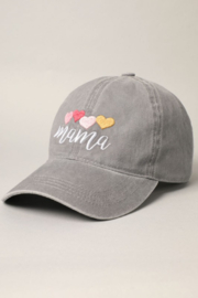 Fashion City MAMA Embroidered Baseball Hat - Front full body