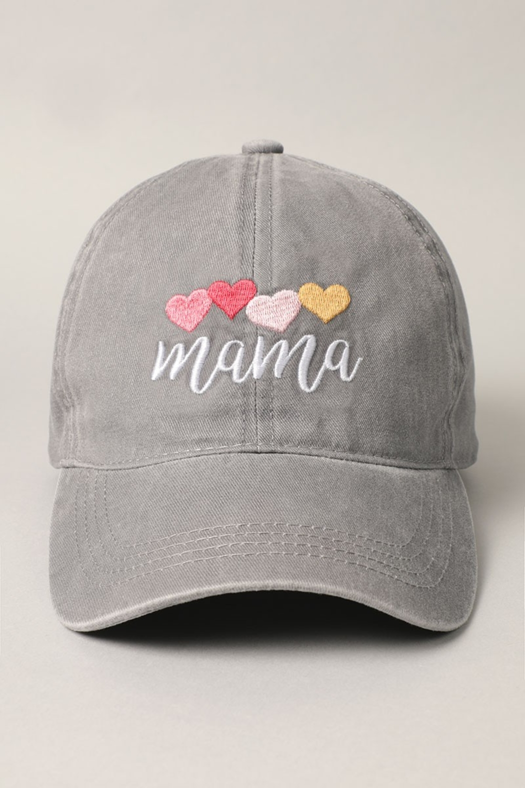 Fashion City MAMA Embroidered Baseball Hat - Main Image