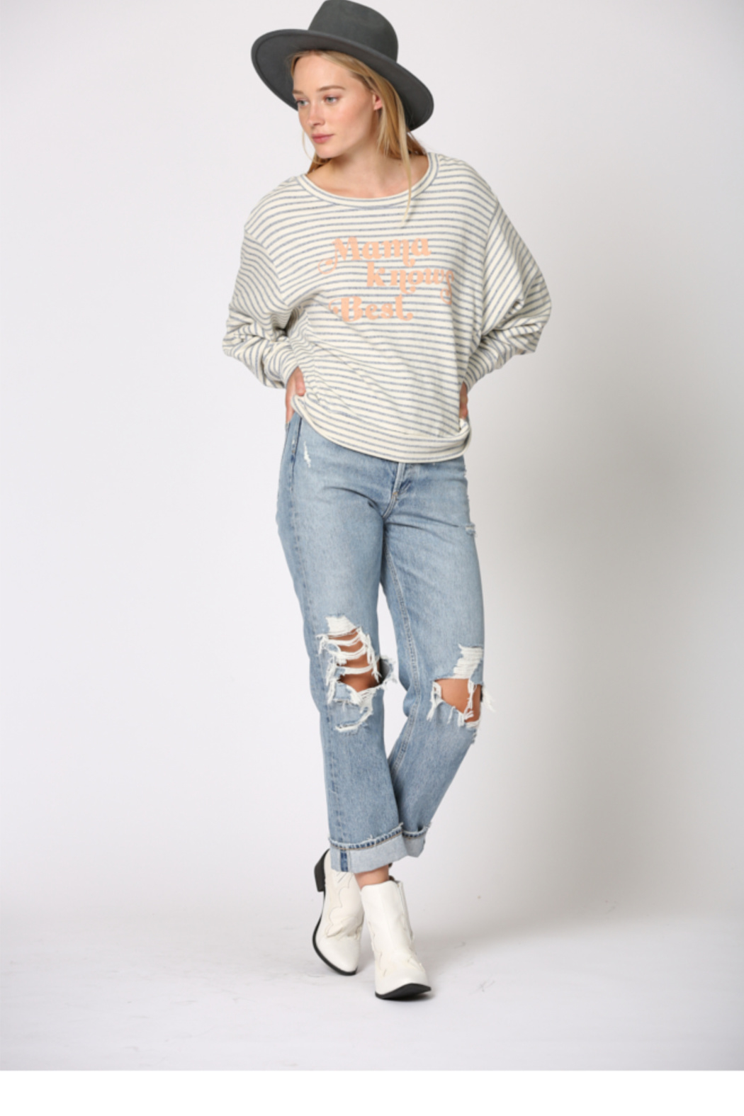 By Together  Mama Knows Best Stripe - Back Cropped Image