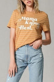Blank Paige Mama-Knows-Best Striped T-Shirt - Front full body