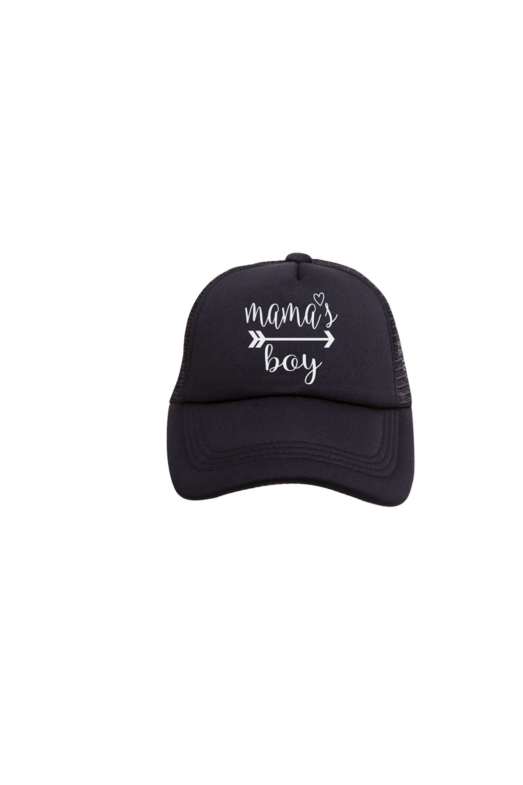 Tiny Trucker Mama's Boy Trucker Hat - Front Cropped Image