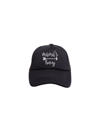 Tiny Trucker Mama's Boy Trucker Hat - Product Mini Image