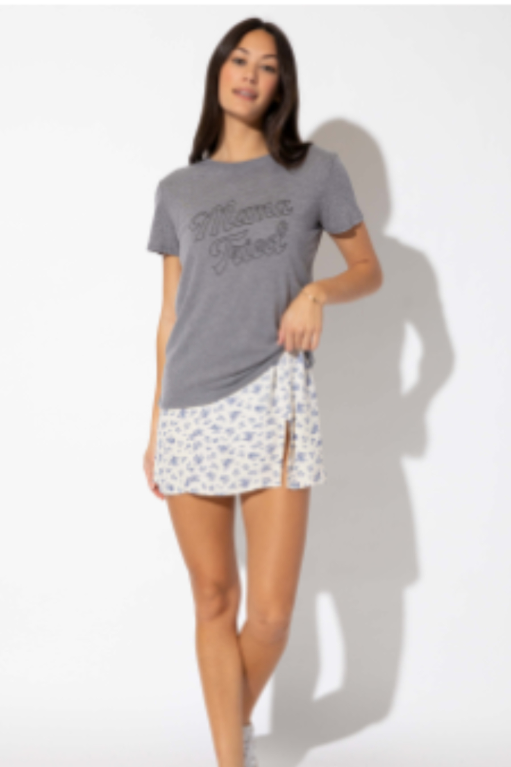 the wonder barre Mama Tried Tee - Front Full Image