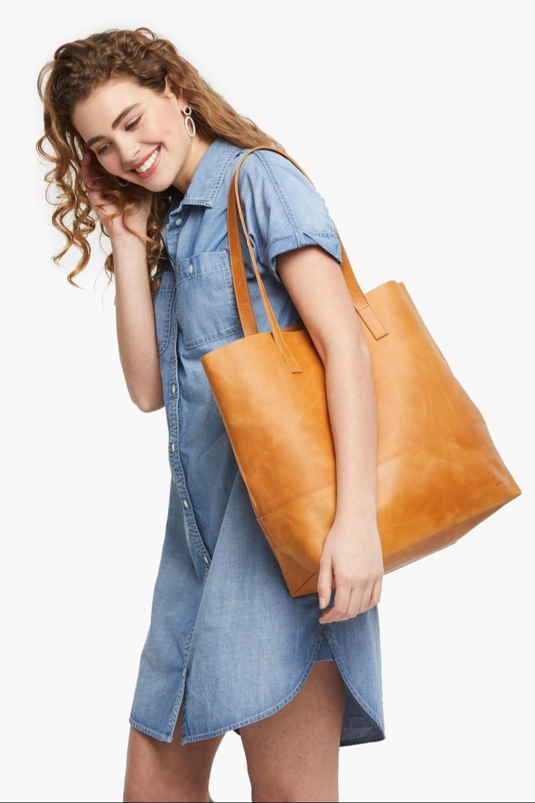 Able MAMUYE CLASSIC TOTE LEATHER - Back Cropped Image