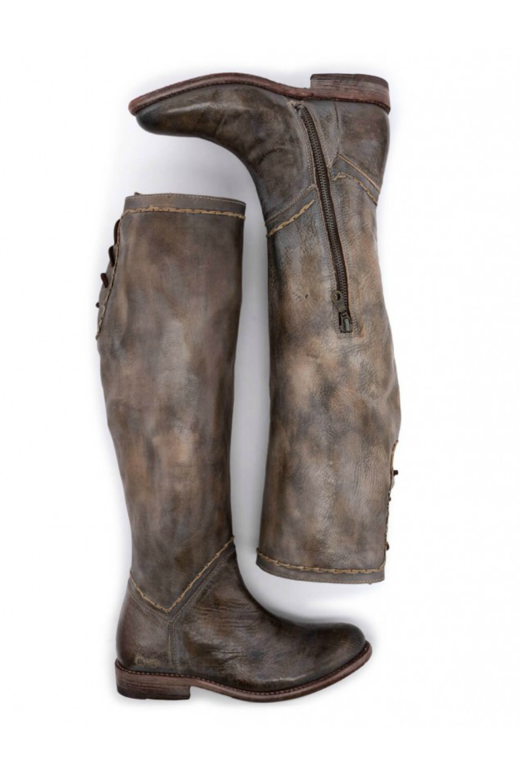 BED STU Manchester Back Lace Tall Boot - Side Cropped Image