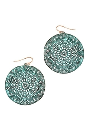 Bag Boutique Mandala Disc Earrings - Product Mini Image