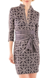 Gretchen Scott Mandarin 3/4 Sleeve Dress - Hooplah - Product Mini Image