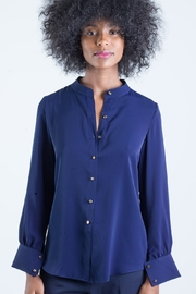 831MinhLe Mandarin Collar Blouse - Front cropped