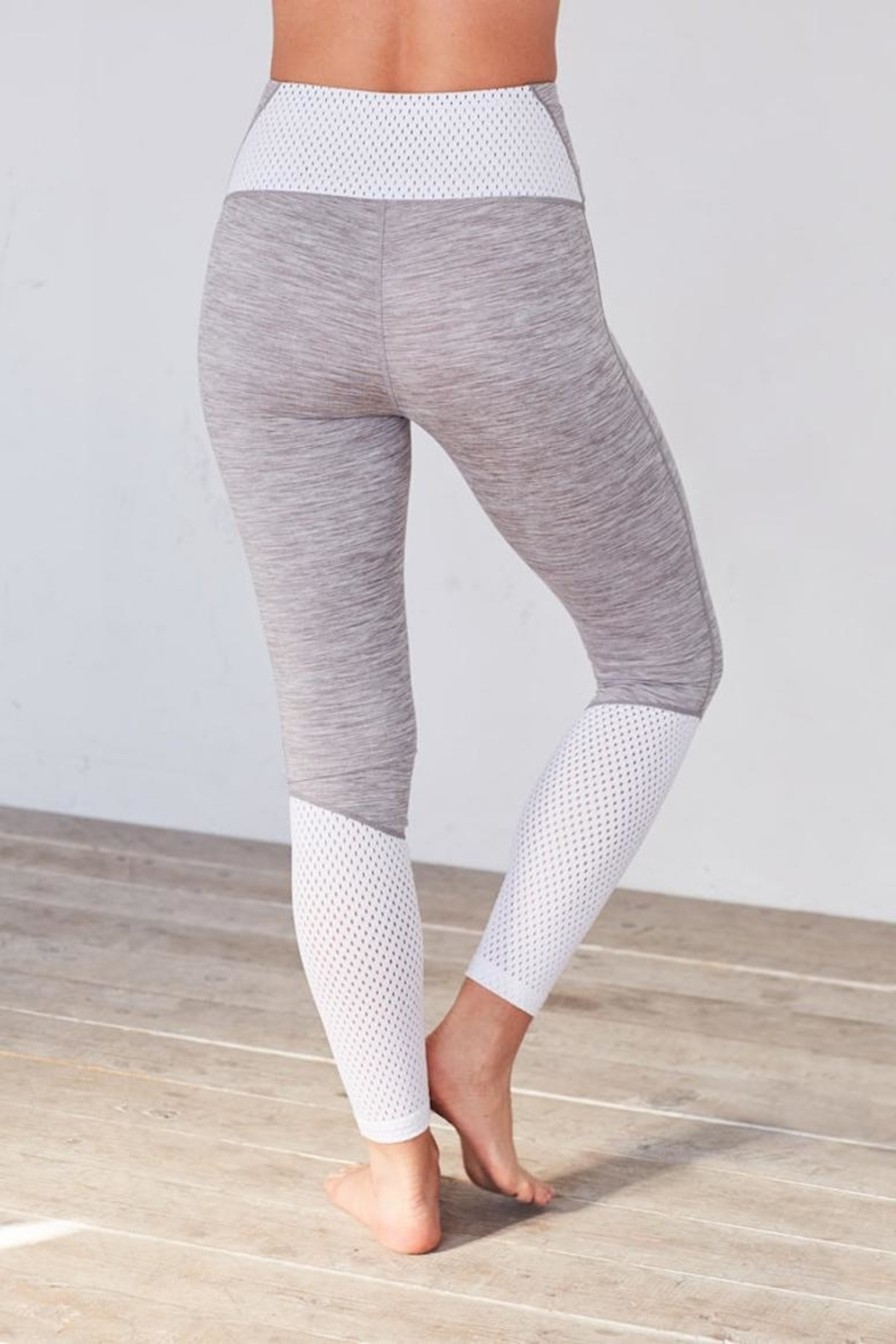Manduka Feather Grey Legging - Front Full Image