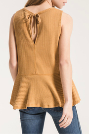 Others Follow  Mandy Keyhole Peplum Tank - Front full body