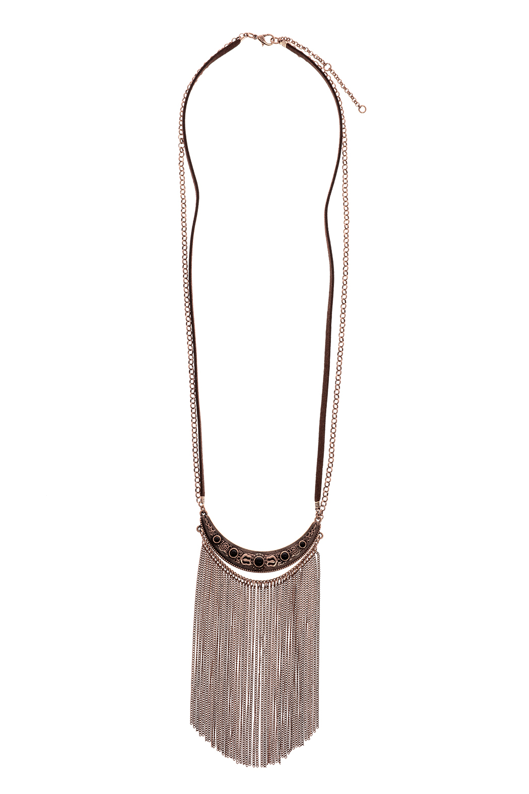 Mandyz Brown And Gold Necklace - Main Image