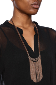 Mandyz Brown And Gold Necklace - Back cropped