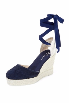 Manebi Hamptons Suede Wedge - Product List Image