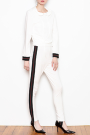 Mango Stipe Pants - Front cropped