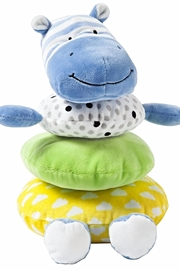 Manhattan Toy Company Soft Stacker Hippo - Front cropped