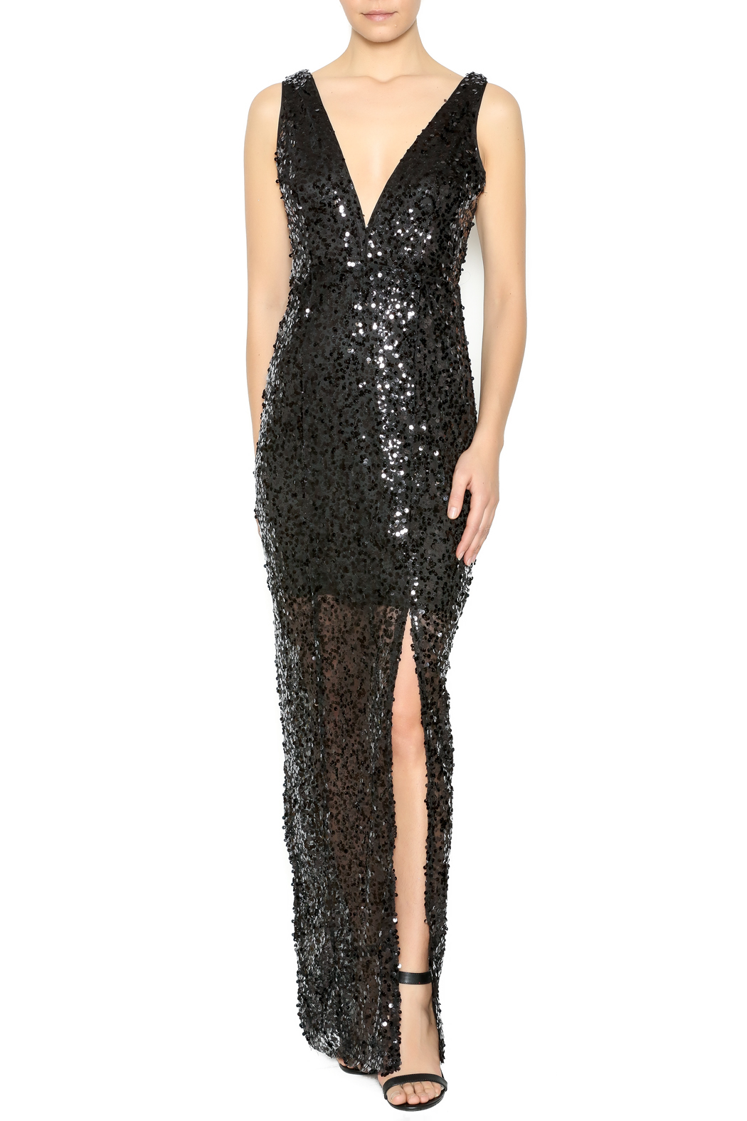 maniju Black Sequin Gown from New York by Dor L\'Dor — Shoptiques