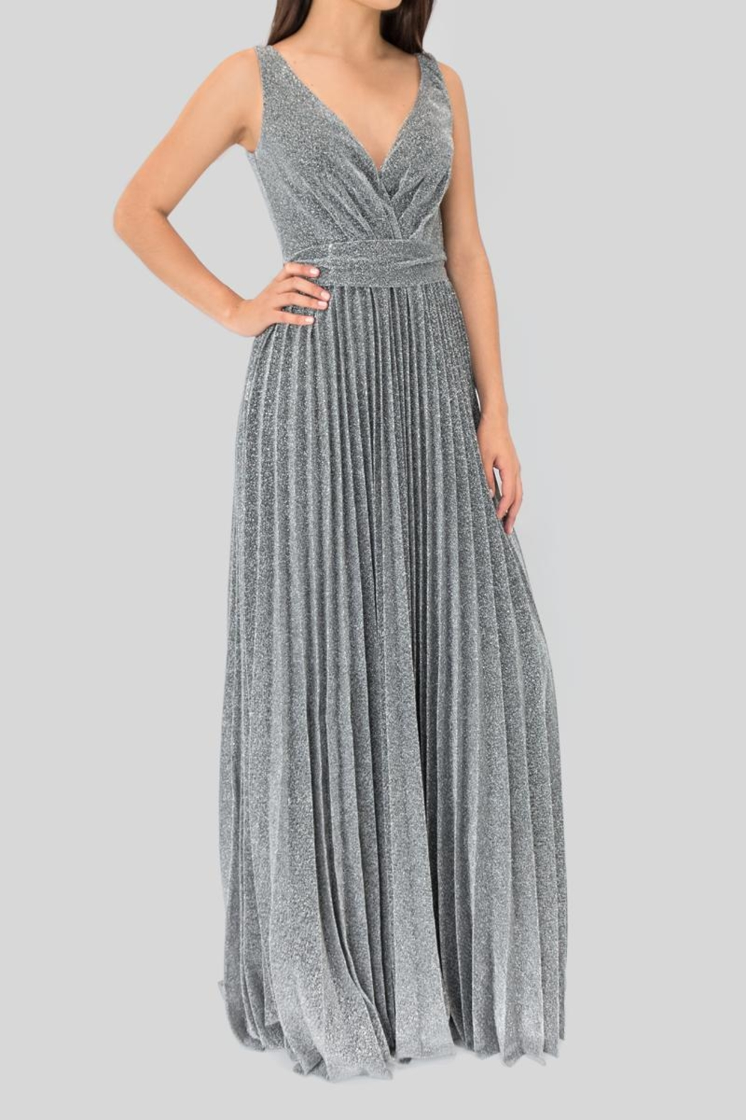 maniju Plated Silver Dress - Back Cropped Image