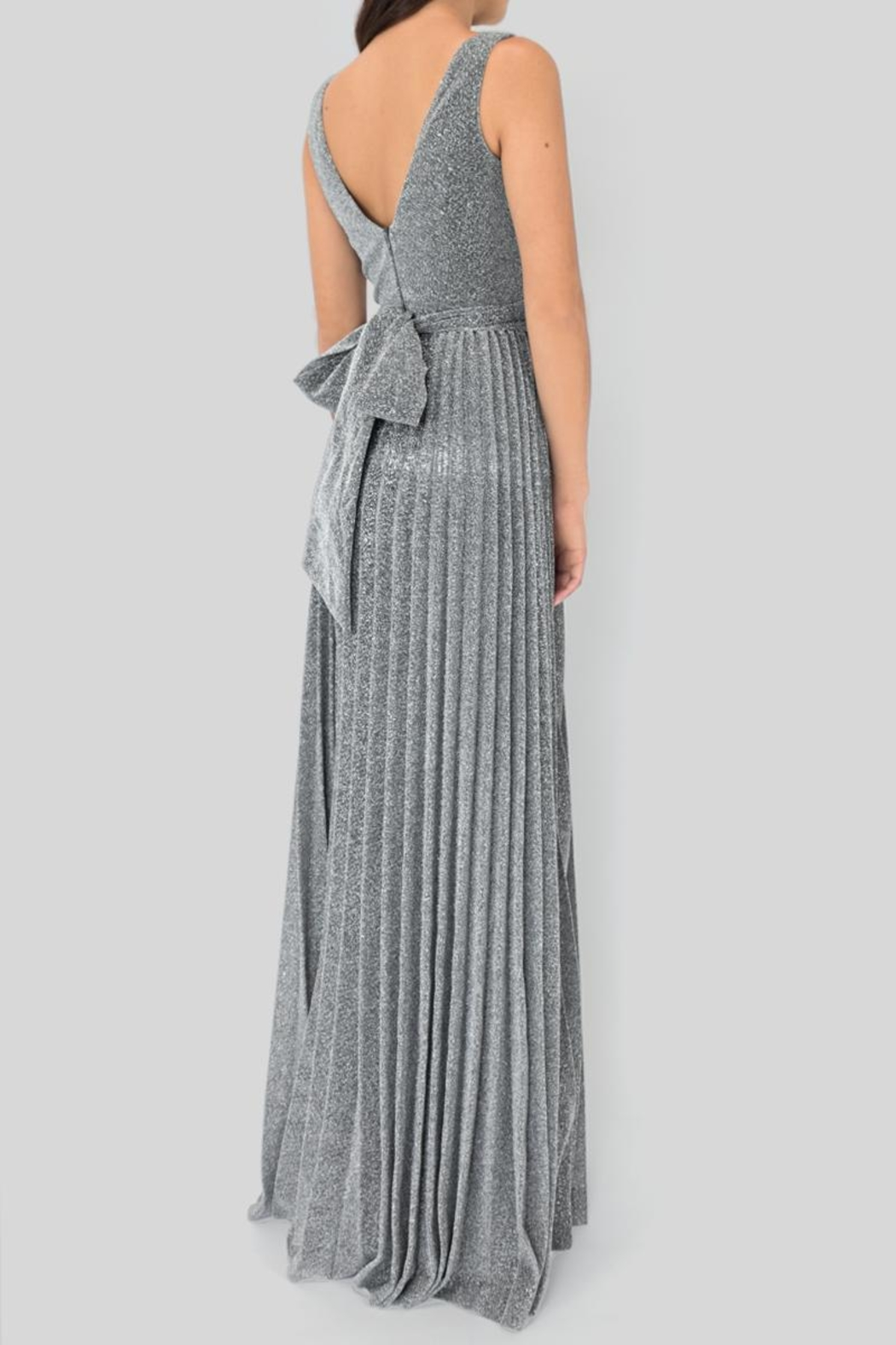 maniju Plated Silver Dress - Side Cropped Image