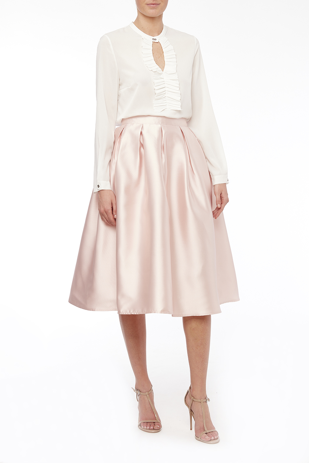 maniju Satin Midi Skirt With Pockets from Mexico by PINK SHOP ...