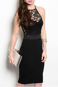 Manito Black Cocktail Dress - Product List Image