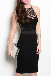 Manito Black Cocktail Dress - Front cropped