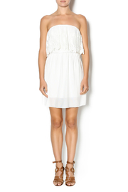 Manito Ivory Lace Strapless Dress - Front full body