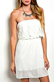 Manito Ivory Strapless Dress - Product Mini Image