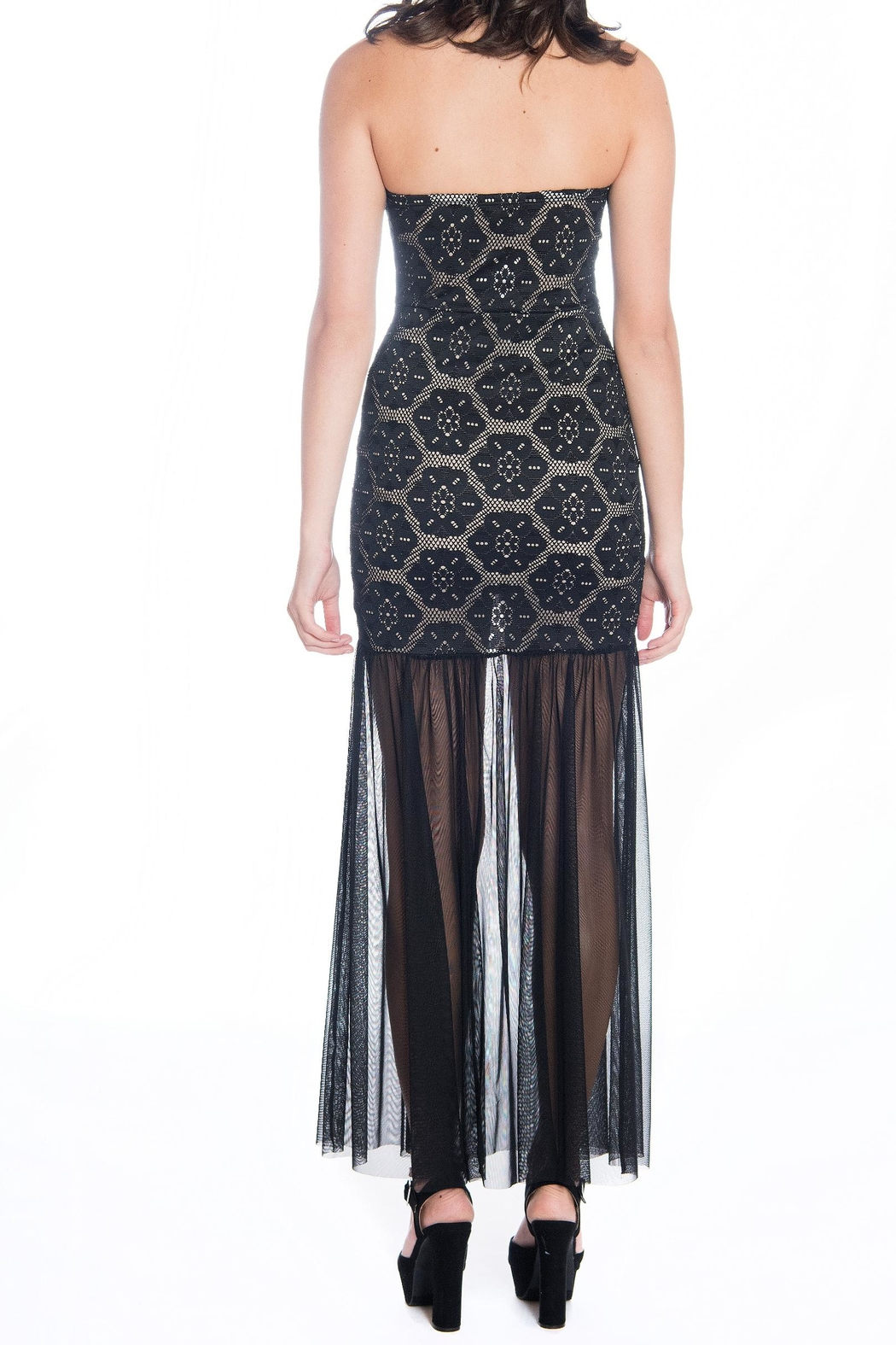 Manito Long Strapless Dress - Side Cropped Image
