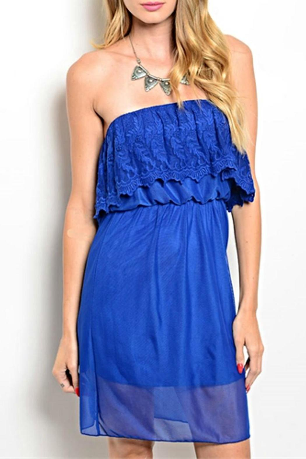 Manito Royal Strapless Dress - Front Cropped Image