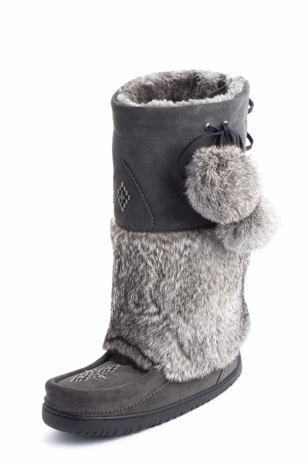 Manitobah Mukluks Adjustable Snowy Owl Boots - Front Cropped Image