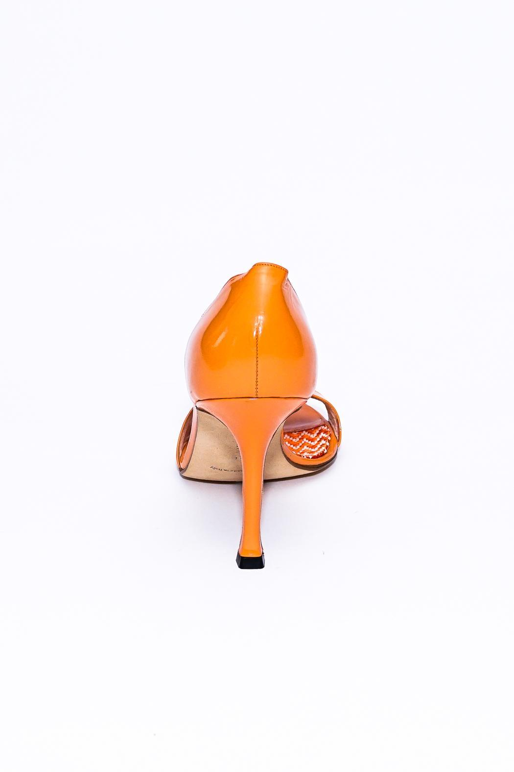 c881ee9ec5b Manolo Blahnik Bright Orange Heels from Florida by Red Carpet ...