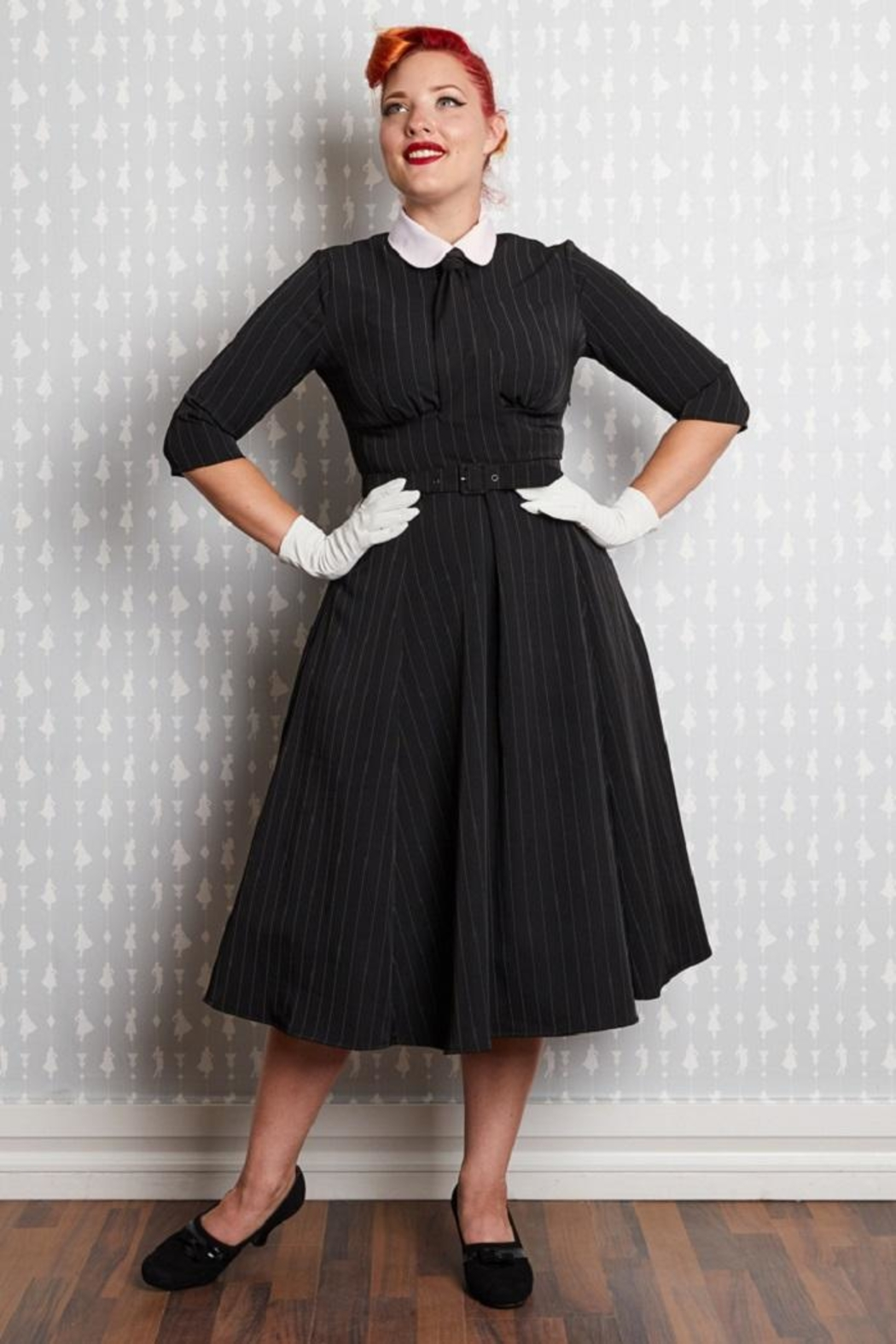 Miss Candyfloss Manon Neck-Tie Swing-Dress - Main Image