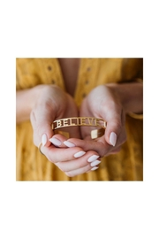 Mantraband Believe  Cuff Gold - Front full body