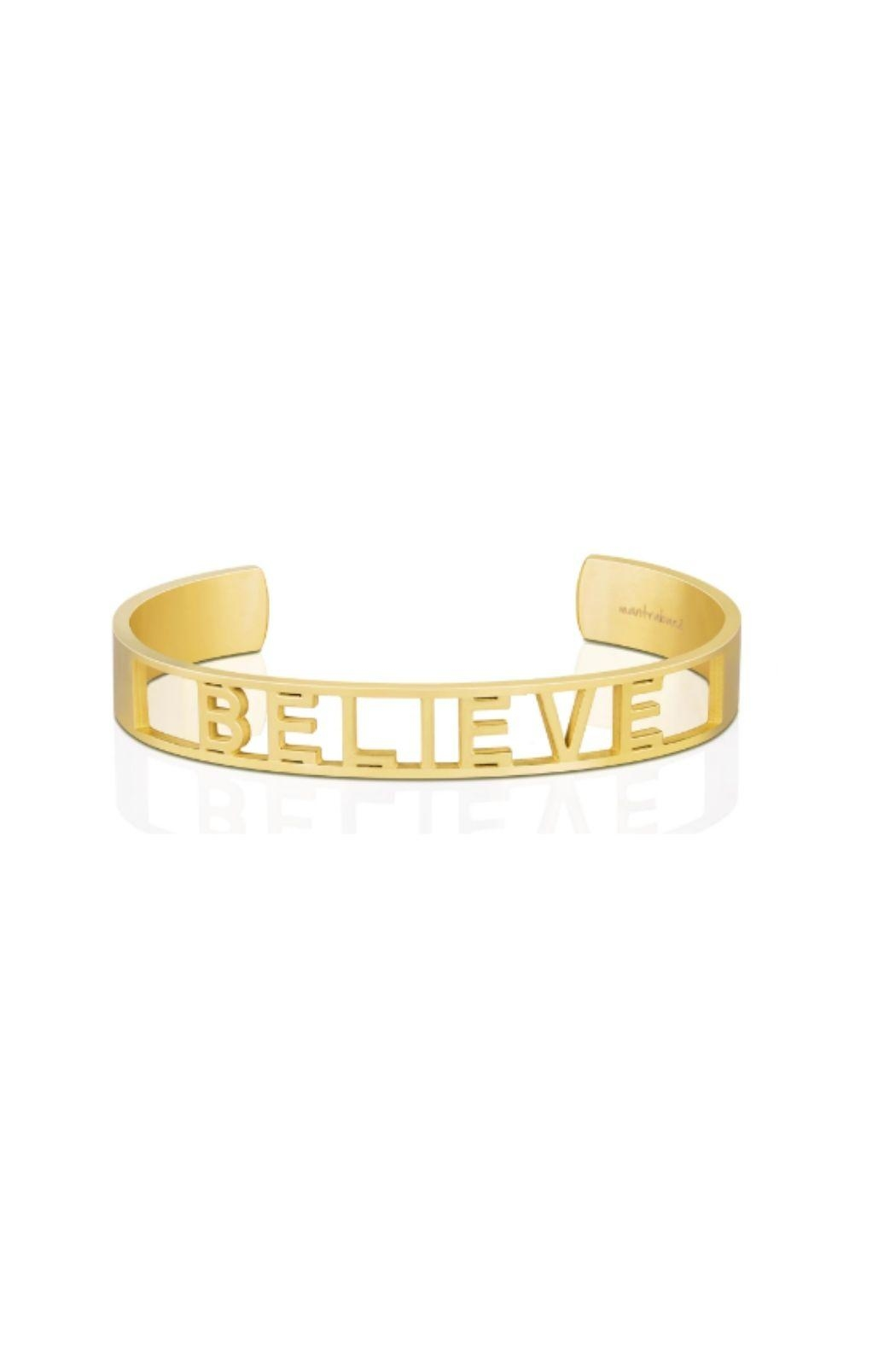 Mantraband Believe  Cuff Gold - Main Image