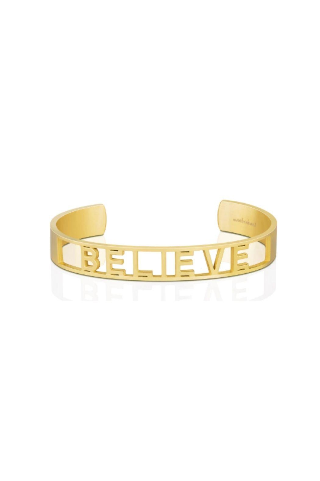 Mantraband Believe  Cuff - Front Cropped Image